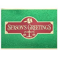 Holiday Greeting Card - Law Firm with Balance Scale