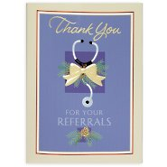 Holiday Greeting Card - Medical Thank You for Your Referrals