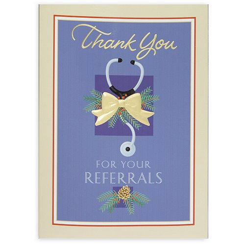 Medical Thank You for Your Referrals Holiday Card