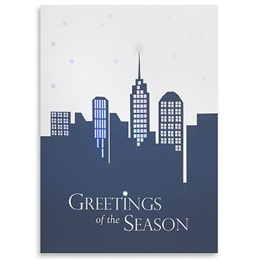 Holiday Greeting Card - Skyline Greetings of the Season