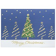 Holiday Greeting Card - Winter Treescape Merry Christmas
