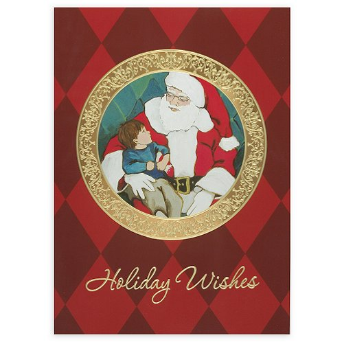 Santa with Child Holiday Card
