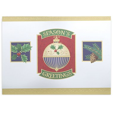 Holiday Greeting Card - Ornament and Holiday Greens