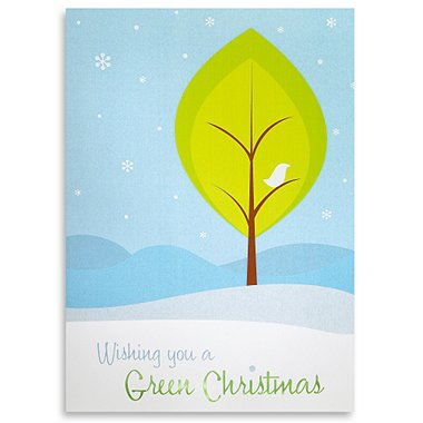 Holiday Greeting Card - Wishing you a GREEN Christmas