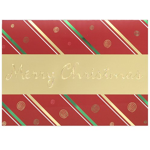 Merry Christmas Gold Banner Holiday Card