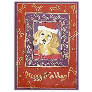 Holiday Greeting Card - Winter Dog Happy Holidays