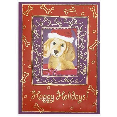 Holiday Greeting Card - Winter Dog Happy Holidays