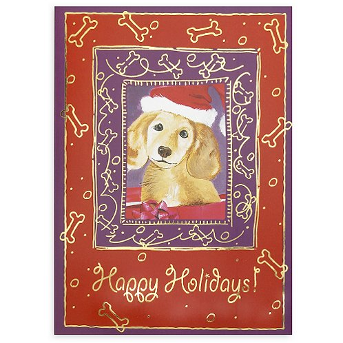 Winter Dog Happy Holidays Holiday Card