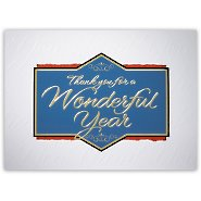 Holiday Greeting Card - Thank You for a Wonderful Year