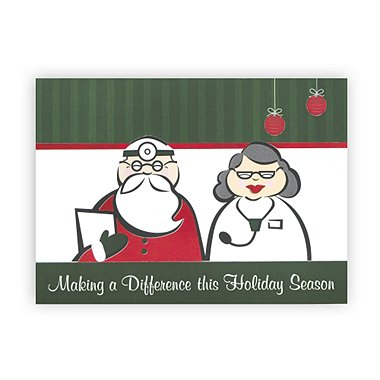Holiday Greeting Card - Medical - Dr. and Mrs. Claus