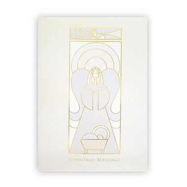 Holiday Greeting Card - Christmas Blessings Angel