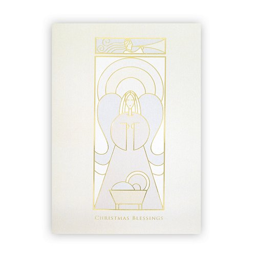 Christmas Blessings Angel Holiday Card