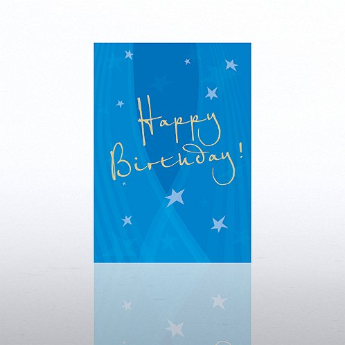 Spotlight Stars Happy Birthday Greeting Card