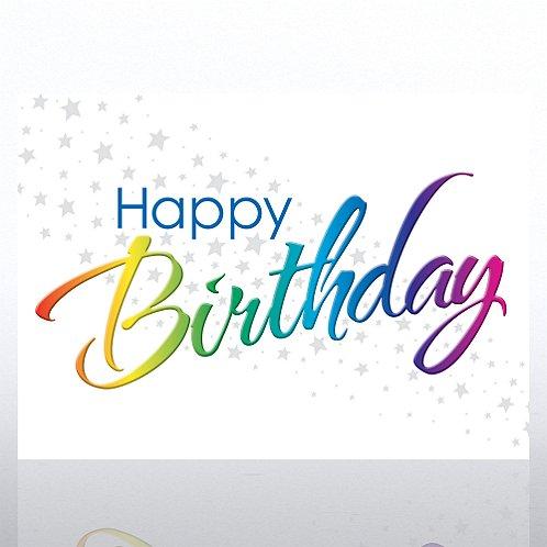 Happy Rainbow Birthday Greeting Card