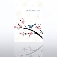 Holiday Greeting Card - Season's Greetings Contemporary Bird