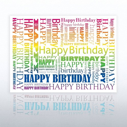 Rainbow Happy Birthday Greeting Card