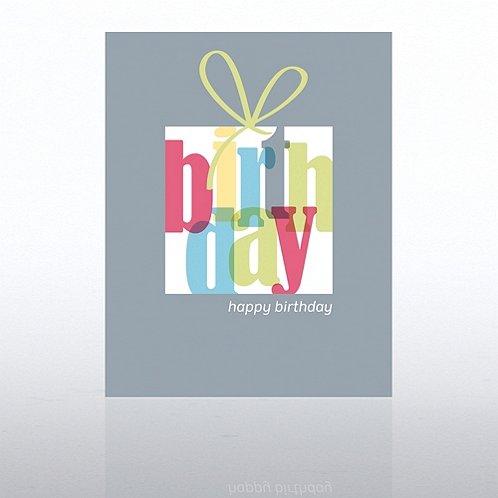 Birthday Present Happy Birthday Greeting Card