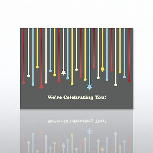 Streamers Anniversary Greeting Card