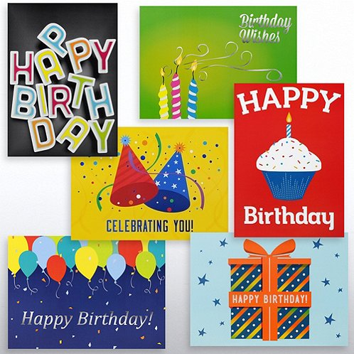 Birthday Celebrations Greeting Card Assortment