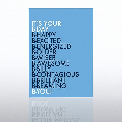 Word List Contemporary Birthday Greeting Card