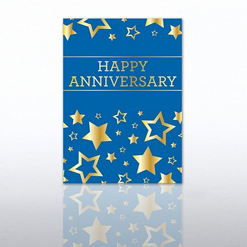Gold Stars Anniversary Greeting Card