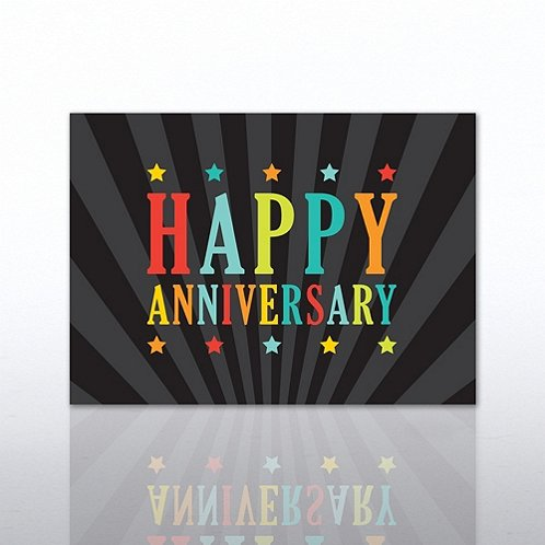 Multi Color Anniversary Greeting Card