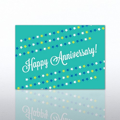 Star Banner Anniversary Greeting Card