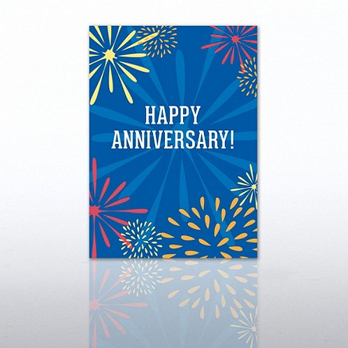 Fireworks Anniversary Greeting Card