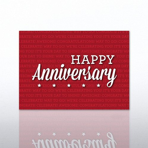 Red Words Anniversary Greeting Card