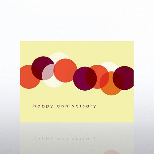 Circles Anniversary Greeting Card