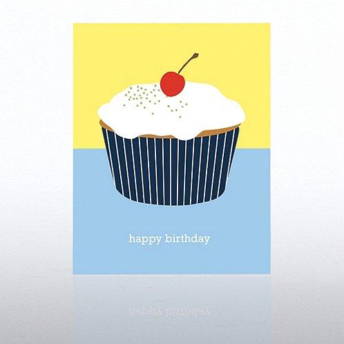 Cupcake Contemporary Birthday Greeting Card