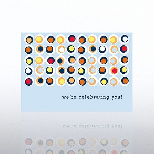 Dots Contemporary Birthday Greeting Card