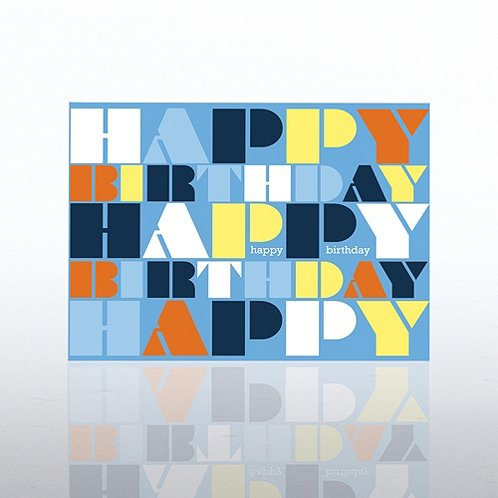 Words Contemporary Birthday Greeting Card