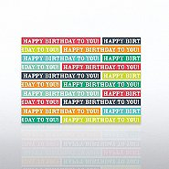 Classic Celebrations Birthday Card - Happy Birthday Stripes