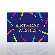 Classic Celebrations Card - Candles: Birthday Wishes