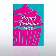 Classic Celebrations Card - Happy Birthday Pink Cupcake