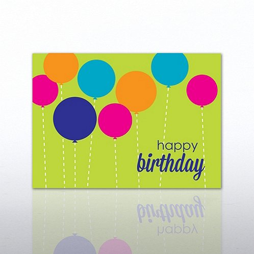 Dotted Balloons Happy Birthday Greeting Card