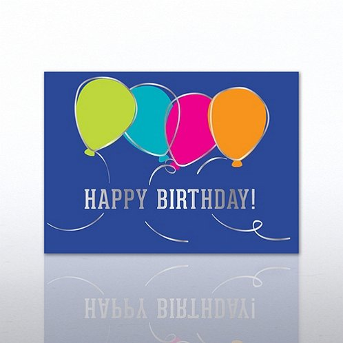Classic Balloons Happy Birthday Greeting Card