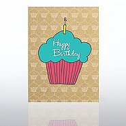 Classic Celebrations Card - Happy Birthday Cupcake