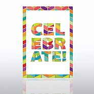 Classic Celebrations Birthday Card - Chevron Celebrate