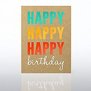 Classic Celebrations Card - Happy Happy Happy Birthday