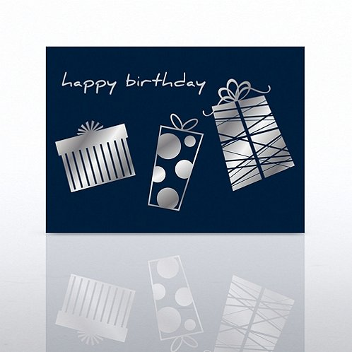 Gift Trio Happy Birthday Greeting Card