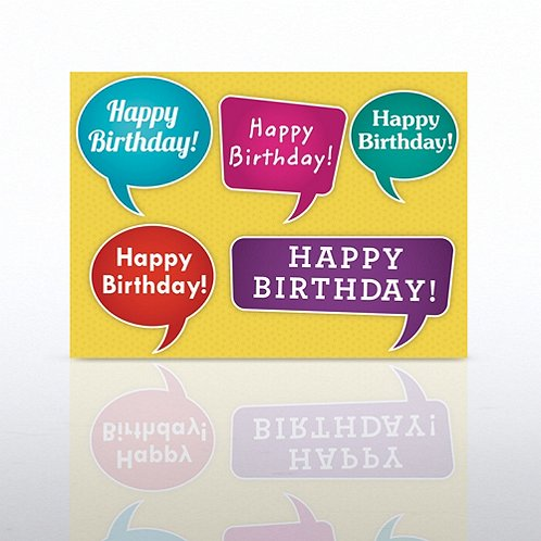 Quote Bubbles Happy Birthday Greeting Card