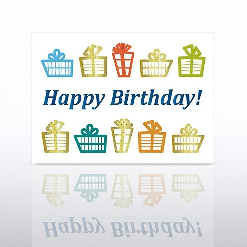 Gift Celebration Happy Birthday Greeting Card