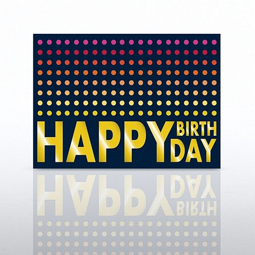 Colorful Dots Happy Birthday Greeting Card