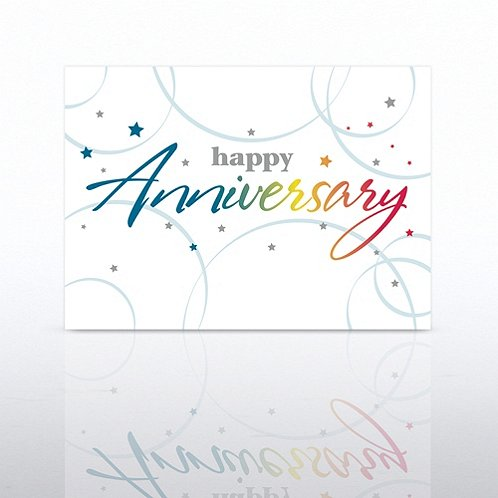 Rainbow Anniversary Greeting Card