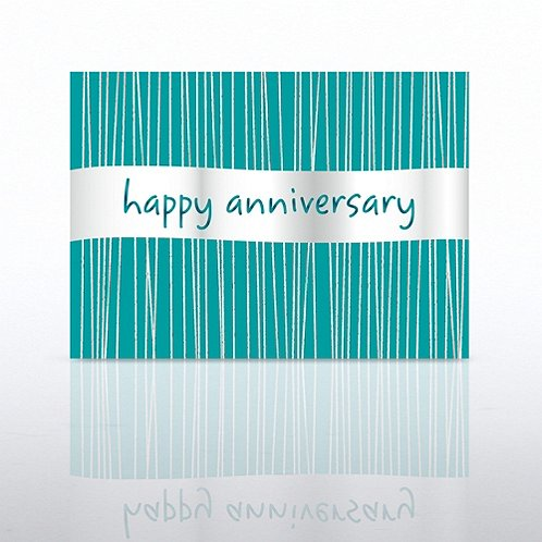 Silver Banner Anniversary Greeting Card