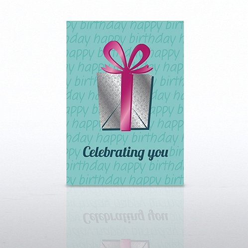 Celebrating You Gift Happy Birthday Greeting Card