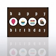 Classic Celebrations - Happy Birthday Icon Circles