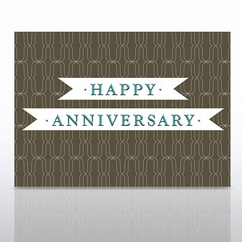 Ribbon Happy Anniversary Greeting Card